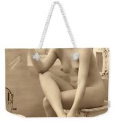 Digital Ode To Vintage Nude By Mb Weekender Tote Bag