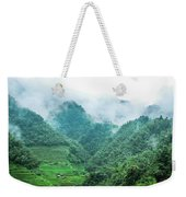 Mountain Scenery In The Mist Weekender Tote Bag