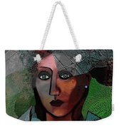 239 - Young Woman In Green Dress 2017 Weekender Tote Bag