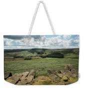 Beautiful Vibrant Landscape Image Of Burbage Edge And Rocks In S Weekender Tote Bag