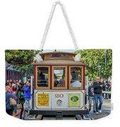2416- Cable Car Weekender Tote Bag