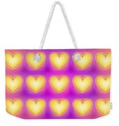 25 Little Yellow Love Hearts Weekender Tote Bag