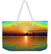 25- Psychedelic Sunrise Weekender Tote Bag