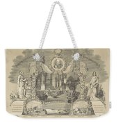 25-year Reign Of William IIi King Of The Netherlands, In 1874, Anonymous, After Hendrik Jan Van Lumm Weekender Tote Bag