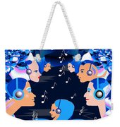 2547 Listen To The Music V Weekender Tote Bag