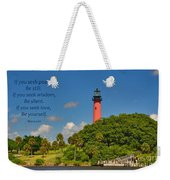 255- Becca Lee - Jupiter Lighthouse Weekender Tote Bag