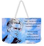 256- David Bowie Weekender Tote Bag