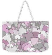 Love Heart Valentine Shape Weekender Tote Bag