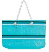 Blue Wood Weekender Tote Bag