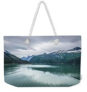 Glacier And Mountains Landscapes In Wild And Beautiful Alaska Weekender Tote Bag