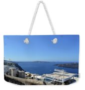 28 September 2016 White Houses By The Sea In Santorini, Greece  Weekender Tote Bag