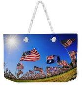 Pepperdine Flag Salute Weekender Tote Bag