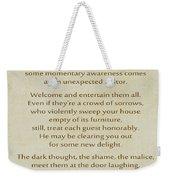 29- The Guest House Weekender Tote Bag