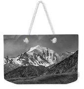 2d07508-bw High Peak In Lost River Range Weekender Tote Bag
