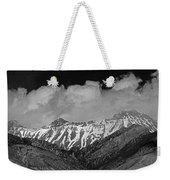 2d07509-bw High Peaks In Lost River Range Weekender Tote Bag