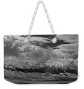 2d07517-bw Storm Over Lost River Range Weekender Tote Bag