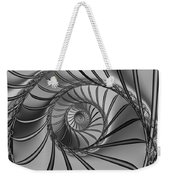 2x1 Abstract 434 Bw Weekender Tote Bag