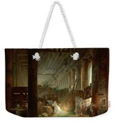 A Hermit Praying In The Ruins Of A Roman Temple Weekender Tote Bag