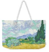 A Wheatfield With Cypresses Weekender Tote Bag