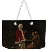 A Woman And Two Men In An Arbor Weekender Tote Bag