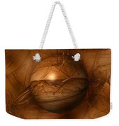 Abstract Brown Globe Weekender Tote Bag