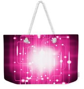 Abstract Circuit Board Lighting Effect  Weekender Tote Bag by Setsiri Silapasuwanchai