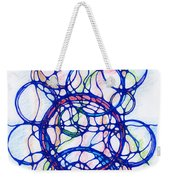 Abstract Pencil Pattern Weekender Tote Bag
