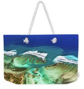 Aerial View Of The Underwater Channel. Mauritius Weekender Tote Bag
