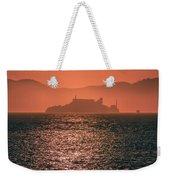 Alcatraz Island Prison San Francisco Bay At Sunset Weekender Tote Bag