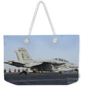 An Fa-18f Super Hornet Ready To Launch Weekender Tote Bag
