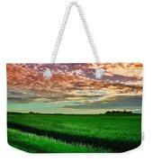 An Iowa Sunset Weekender Tote Bag