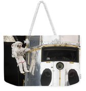 Astronauts Working On The Hubble Space Weekender Tote Bag