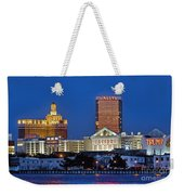 Atlantic City Skyline Weekender Tote Bag