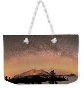 Aurora Borealis And Milky Way Weekender Tote Bag