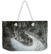 Bad Road Conditions While Driving In Winter Weekender Tote Bag
