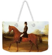 Barraud Henry Richard Paget Of Cropston Leicester On A Bay Hunter Henry Barraud Weekender Tote Bag