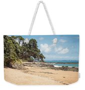 Beach In New Zealand Weekender Tote Bag