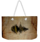 Believe Recorded Soundwave Collection Weekender Tote Bag
