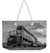 Blue Freight Train Engine At Sunrise  Weekender Tote Bag