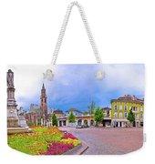 Bolzano Main Square Waltherplatz Panoramic View Weekender Tote Bag