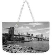 Brooklyn Bridge - New York City Skyline Weekender Tote Bag