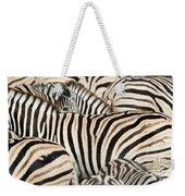 Burchells Zebras Equus Quagga Weekender Tote Bag