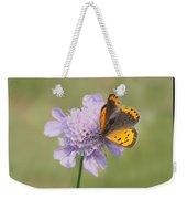 Butterfly On Flower Weekender Tote Bag