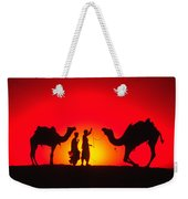 Camels At Sunset Weekender Tote Bag