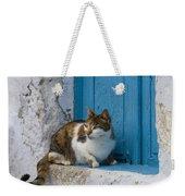 Cat In A Doorway, Greece Weekender Tote Bag