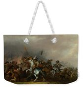 Cavalry Attacked By Infantry Weekender Tote Bag