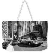 Chicago Bus And Buildings Weekender Tote Bag