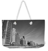 Chicago Skyline And Beach Weekender Tote Bag