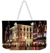 Christmas Decorations On The Buildings, Bruges City Weekender Tote Bag