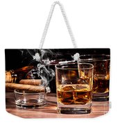 Cigar And Alcohol Collection Weekender Tote Bag